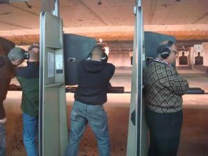 Gun range practice